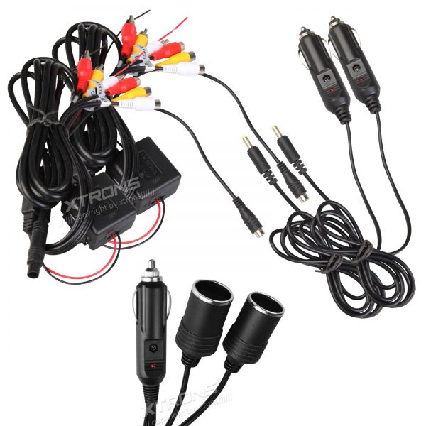 Xtrons CL005 In Car Cigarette Charger for Headrest DVD Players/Monitors