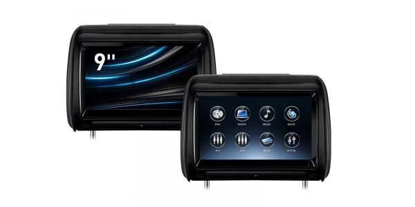 9 Zoll Touchscreen | Ein Paar Auto-Kopfstützen-DVD-Player | HD928TBD