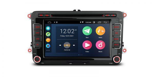 VW / SEAT / SKODA | Verschiedene | Android 10 | Quad Core | 2GB RAM & 32GB ROM | PSA70MTV