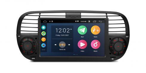 Fiat   500   Android 10   Quad Core   2GB RAM & 32GB ROM   PSA7050FL_B