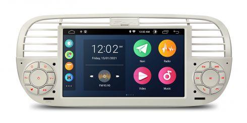 Fiat   500   Android 10   Quad Core   2GB RAM & 32GB ROM   PSA7050FL_C
